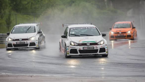 Jeffrey Kruger in action at the Hungaroring