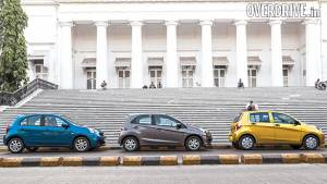 Maruti Celerio AMT vs Honda Brio AT vs Nissan Micra CVT in India