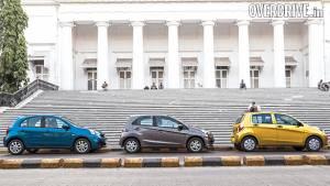 Maruti Celerio AMT vs Honda Brio AT vs Nissan Micra CVT in India