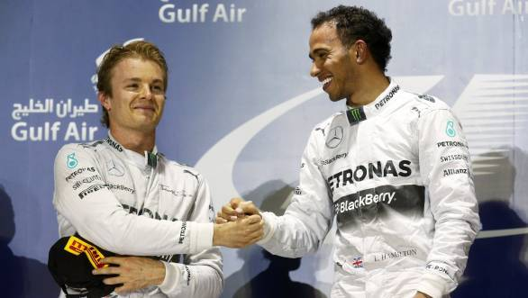 Rosberg and Hamilton - team-mates and fierce rivals all at once as was demonstrated so clearly at the 2014 Bahrain GP