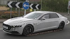 Aston Martin Lagonda saloon car spotted testing.