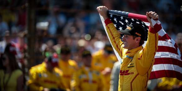 Ryan Hunter-Reay after his win