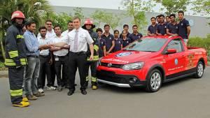 Volkswagen Academy apprentices build firefighting car for Pune plant