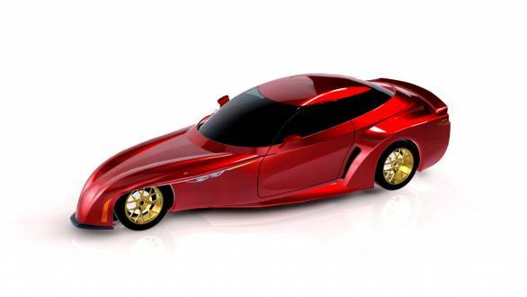 With this concept, DeltaWing will be looking to take on Nissan's three-passenger concept - the Bladeglider