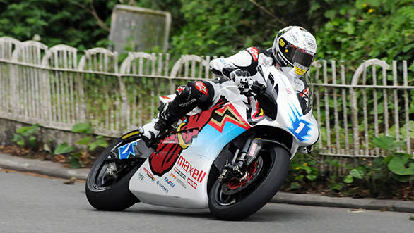John McGuinness won the Zero Emissions TTX race in 2014, shattering the lap record along the way