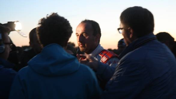 Robert Kubica is certainly the most popular man at Rally Poland - we couldn't barely take this photo without getting shoved out the way