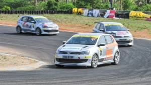 Bonnie Thomas wins Race 2 of the Volkswagen Polo R Cup