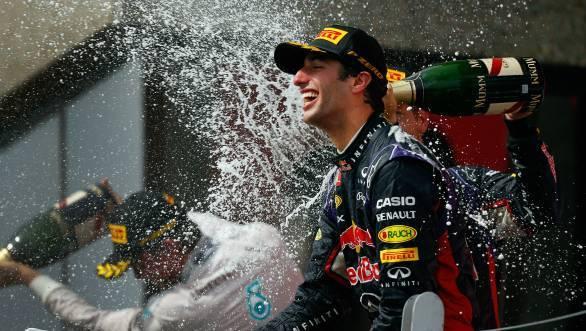 That's one happy Formula 1 driver - Ricciardo takes his maiden F1 win at Montreal