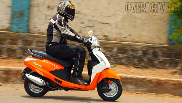2014 Hero Pleasure India first ride
