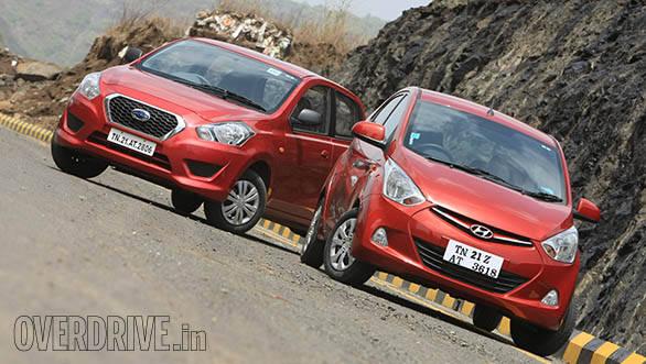 Hyundai Eon vs Datsun Go 2014 (1)