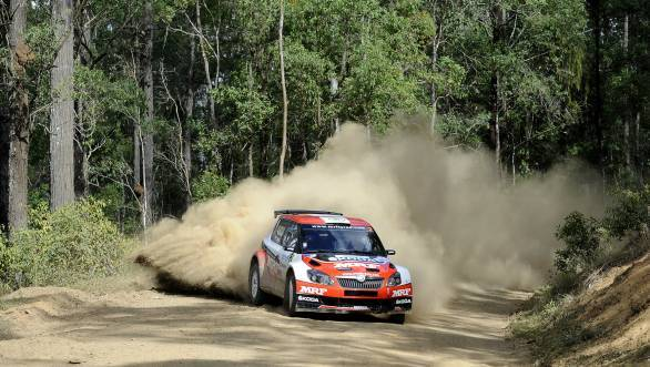 Kopecky now moves into the lead of the 2014 Asia Pacific Rally Championship