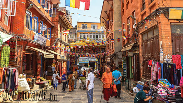 Shops offering a variety of handicrafts and souvenirs in Kathmandu. You can also purchase cheap hiking gear