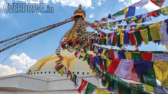 The Stupa at Boudhanath towers over the Kathmandy skyline