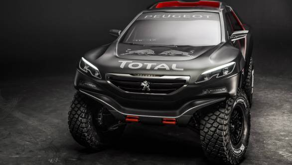 The Peugeot 2008 DKR that the trio will pilot in the 2015 edition of the Dakar