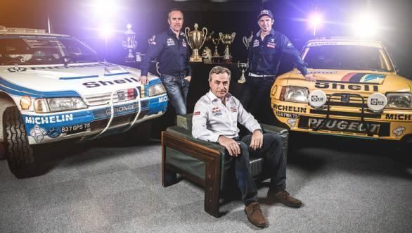 Peterhansel, Carlos Sainz, Cyril Despres - what a line up Peugeot has for the 2015 Dakar!