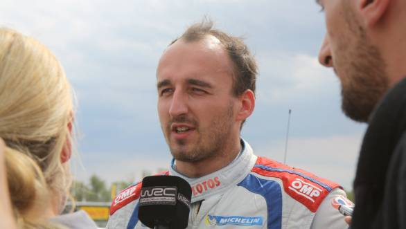 It was disappointment for Polish rally fans as home hero Robert Kubica crashed out
