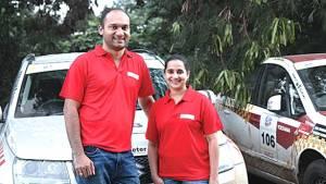 Satish and Savera win Round 1 of the National TSD Rally Championship