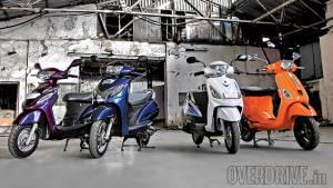 Honda Activa 125 DLX vs Vespa S vs Suzuki Swish vs Mahindra Rodeo