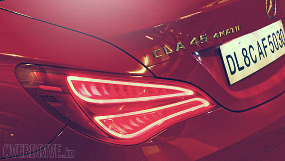 LED taillamps and design gives the CLA an unique character. Note AMG badging