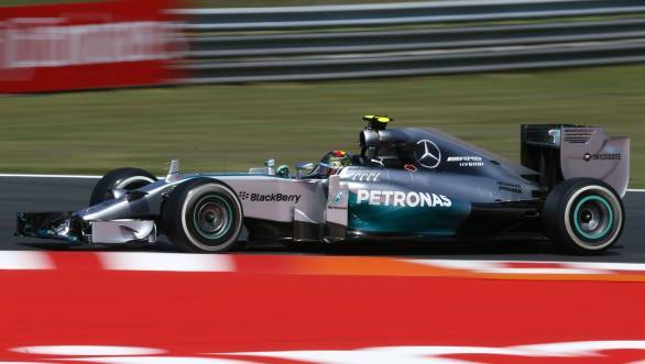Rosberg took his third pole in a row at Hungaroring