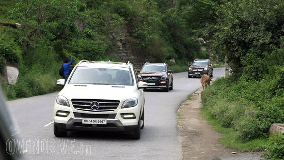 The point stars leading from Manali to camp-site