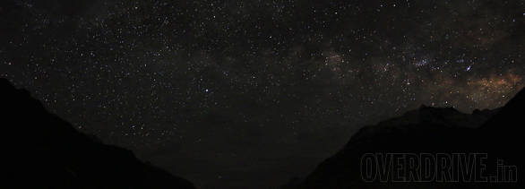 The night sky was so clear thanks to the thin air and high altitude that we could actually see the milky way with the naked eye!
