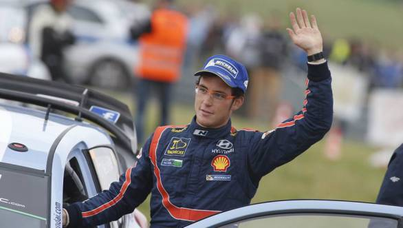 Third place at Rally Poland was Thierry Neuville's second podium in the 2014 WRC with Hyundai