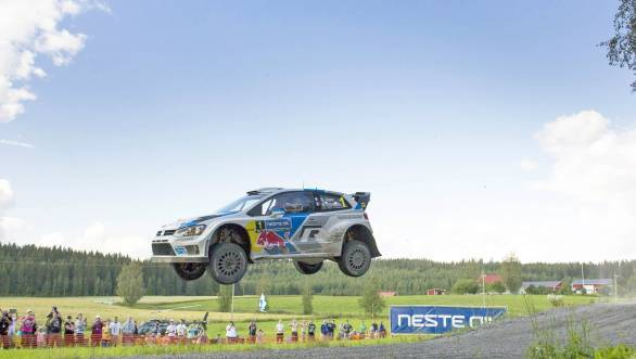 Reigning world rally champion Sebastien Ogier narrowly missed out on victory at Rally Finland
