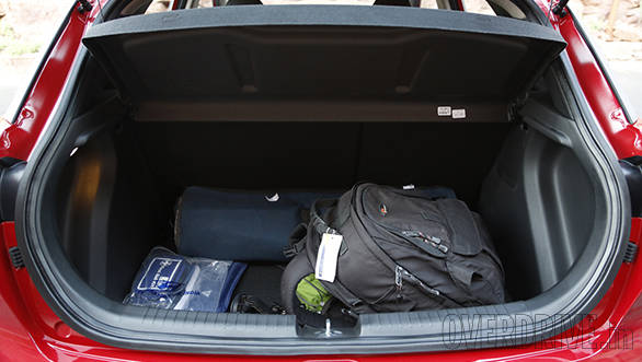 The 285-litre boot space isn't very deep, but its width is enough for your weekend luggage