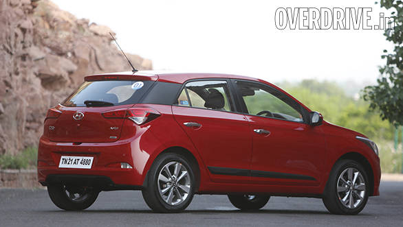 The wheel wells look a bit empty with the 16-inch rims and tyres that the India-spec i20 comes with