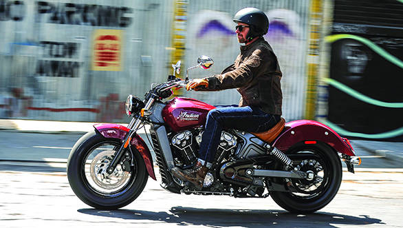 The Scout claims to have a seat height of just over two feet off the ground at 25.3 inches. This means getting your feet down should be easy as pie and combine that with lightweight and you get a motorcycle that almost anyone can ride