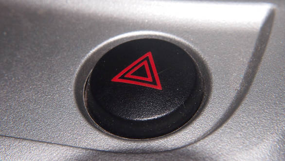 Hazard lights should only be switched on if you are a possible hazard to other road users