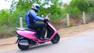 2014 TVS Scooty Zest India first ride