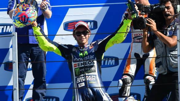 Valentino Rossi took his 81st career win with a fine first place in front of the cheering home crowd at Misano
