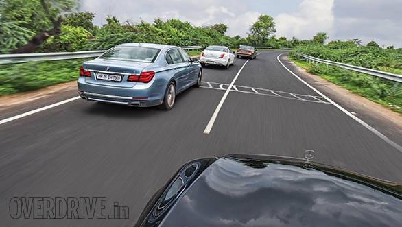 Audi A8 L vs BMW ActiveHybrid 7L vs Jaguar XJ L vs Mercedes-Benz S350 CDI 3