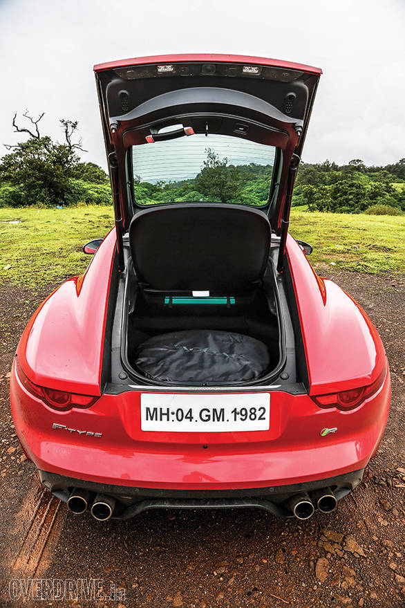 No folding roof means 407 litre of space - enough for a weekend getaway