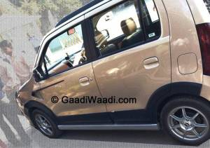 Spied: Maruti Suzuki Wagon R Xrest testing in India