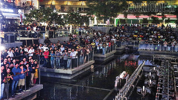 A massive crowd collected to watch our famous on-stage contests