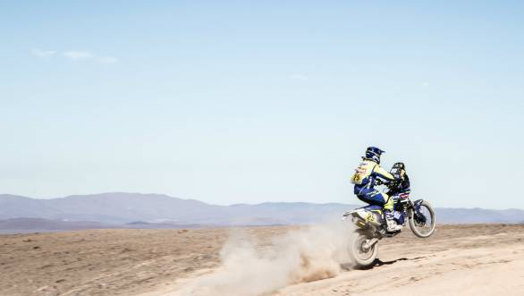 Fabien Planet is currently 23rd overall on the second Sherco TVS RTR 450