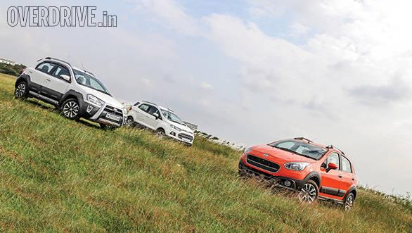 Ford EcoSport vs Fiat Avventura vs Toyota Etios Cross (9)