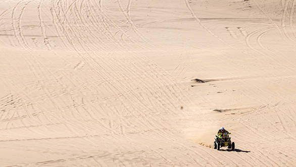 Of course, chasing Sonik down the desert sands is Ignacio Casale, desperately looking to take a second consecutive Dakar win in the quad class.