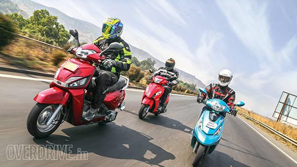 Mahindra Gusto vs Suzuki Let's vs TVS Scooty Zest (1)