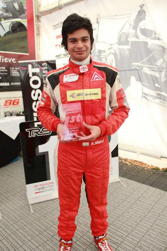 Arjun Mani wins toyota series