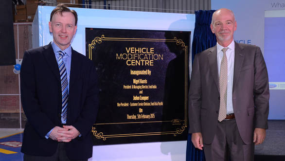 John Cooper VP Customer Service Ford AP and Nigel Harris, President Ford India inaugurating Ford Vehicle Personalisation Centre_resized