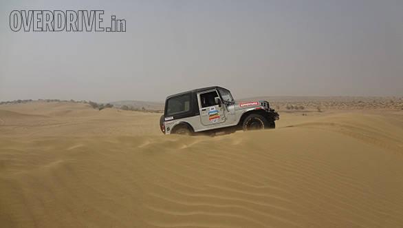 The Mahindra Thar takes on the Thar Desert