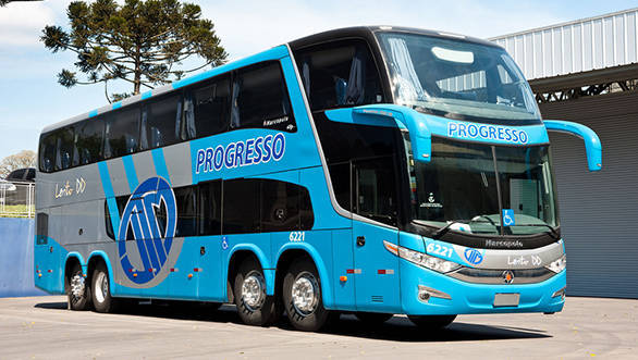 Volvo may have taken the lead in the high-performance long-distance luxury coach market, but homegrown Tata Motors is determined to push the envelope  -  with what could well be India's first 8×2 double-deck coach, based on Marcopolo's Paradiso 1800 DD model