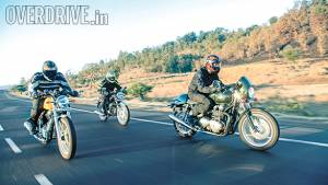 Cafe racers: Hero Splendor Pro Classic, Triumph Thruxton and Royal Enfield Continental GT on a ride to Nashik