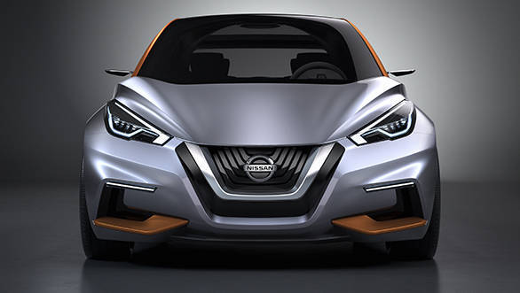 The Sway's character line begins with the V-motion grille, mounted low at the front between twin V-shaped quarter bumpers.