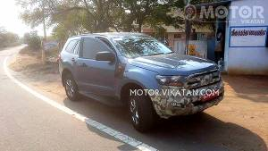 2016 Ford Endeavour spotted testing in India