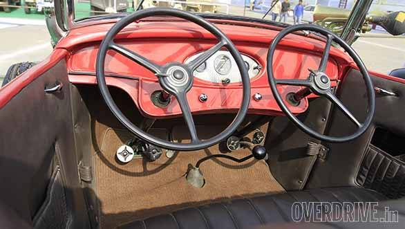 A learner's car complete with two steering wheels and sets of pedals